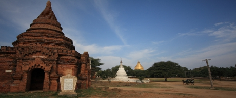 Bagan Temples of different shapes and sizes
