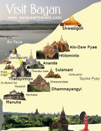 Bagan Tour Map
