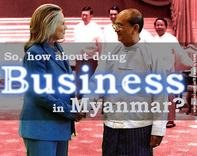How about doing business in Myanmar?