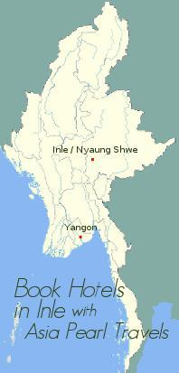 Map showing Inle and Nyaung Shwe