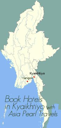 Map showing Kyaikhtiyo.