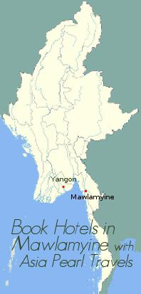Map showing Mawlamyine.