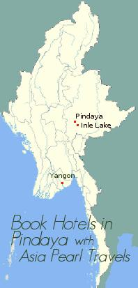 Pindaya on Myanmar Map.