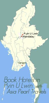 Pyin U Lwin on Myanmar Map.