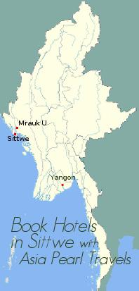Sittwe on Myanmar Map.