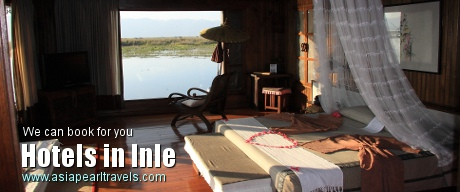 Book for hotels in Inle with Asia Pearl Travels.