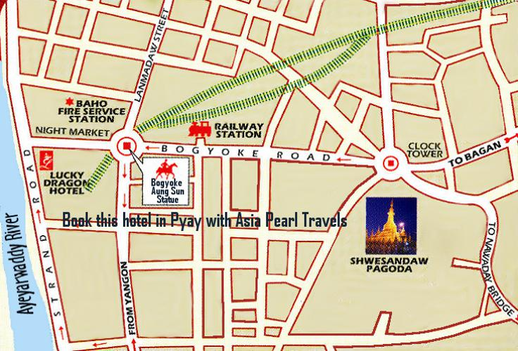Lucky Dragon Hotel on Pyay Map