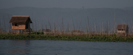 A floating hut in Inle.
