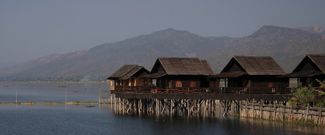 Cottages in Inle