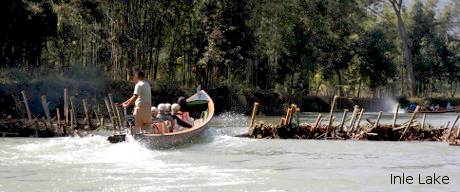 Inle Sightseeing trip on boat.