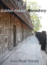 The Golden Palace Monastery in Mandalay.