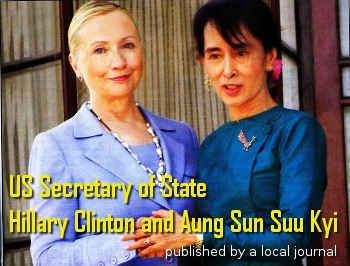 Hillary Clinton and Aung Sun Suu Kyi