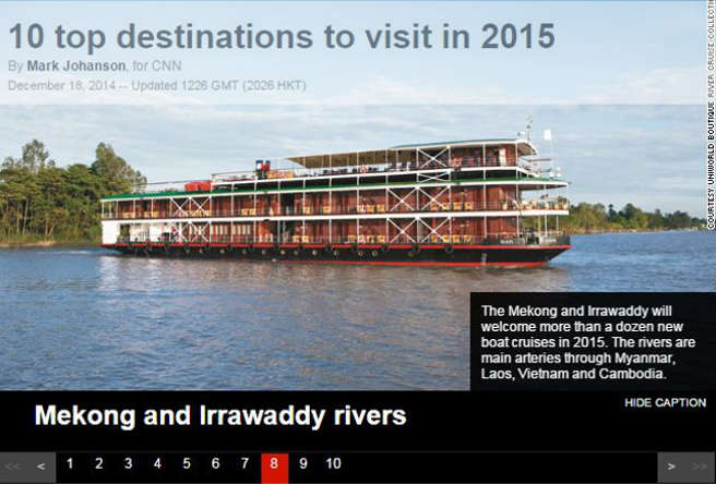 CNN recommends Irrawaddy River.