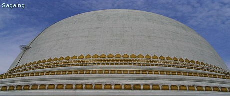 Round-shaped pagoda in Sagaing