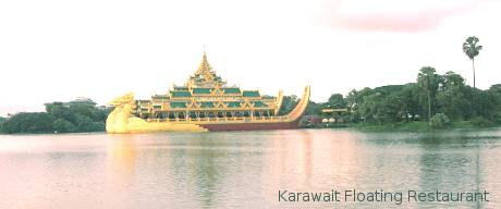 Karawait in Kandawgyi Lake, Yangon.